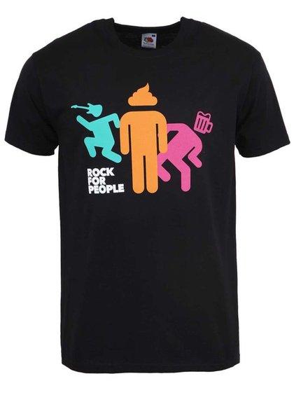 Čierne pánske tričko ROCK FOR PEOPLE BD