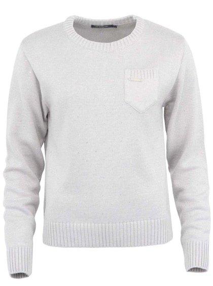 Svetlosivý sveter s trblietavými kamienkami Voi Jeans Lady Dane