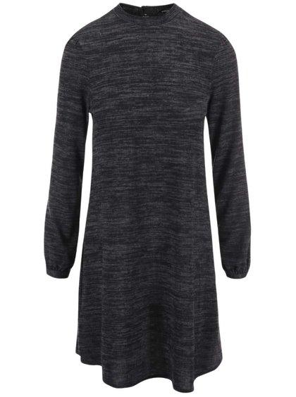 Tmavosivé žíhané šaty s dlhým rukávom Dorothy Perkins