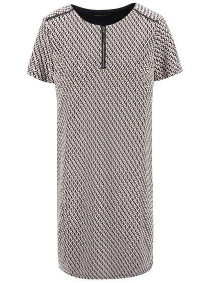 Béžové vzorované šaty se zipem Dorothy Perkins