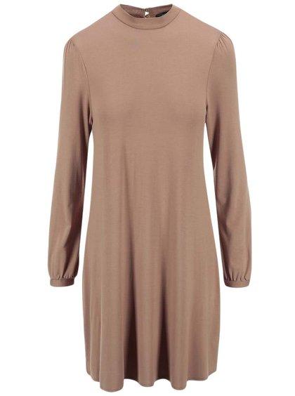 Béžové šaty s dlhým rukávom Dorothy Perkins