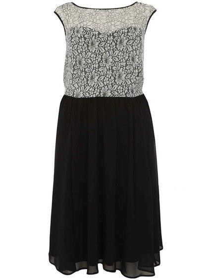 Bílo-černé krajkové šaty Dorothy Perkins Curve