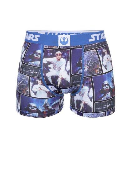 Modré potlačené boxerky Star Wars Freegun