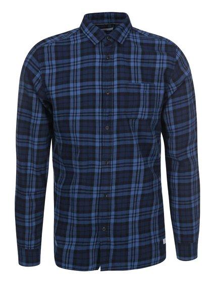 Modro-černá kostkovaná košile Jack & Jones Rikki