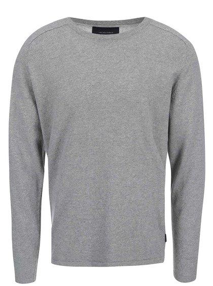 Svetlosivý sveter Jack & Jones Simple