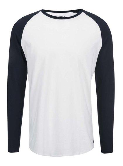 Duplicita k dealu 166929 Bílé triko s modrými rukávy Jack & Jones Stan
