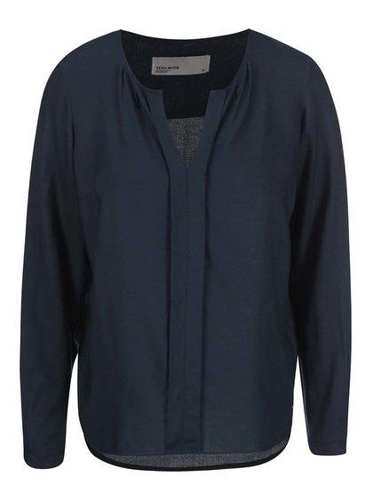Bluză bleumarin cu mâneci lungi Vero Moda Luca