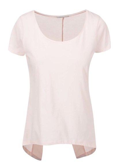 Ružový top s asymetrickým chrbtom Noisy May Mono
