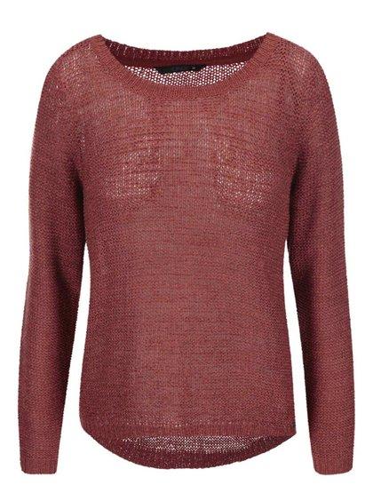Tehlový pletený sveter ONLY Geena