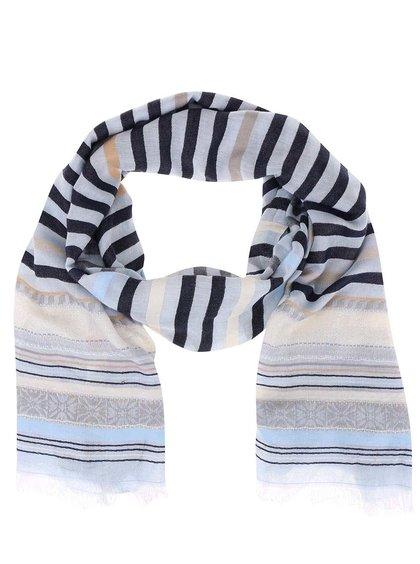 Modrý pruhovaný šátek Pieces Thala