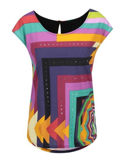 Barevné tričko s geometrickými vzory Desigual Damon