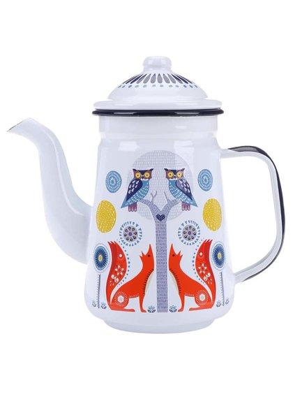 Ceainic Folklore White Forest din tablă