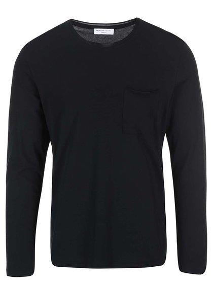Černé triko s dlouhým rukávem Selected Homme Pima Florence