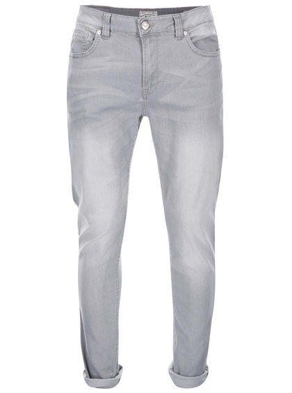Blugi gri deschis slim fit ONLY & SONS Loom