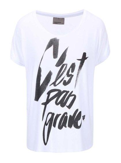 Bílé tričko s potiskem VERO MODA Didie