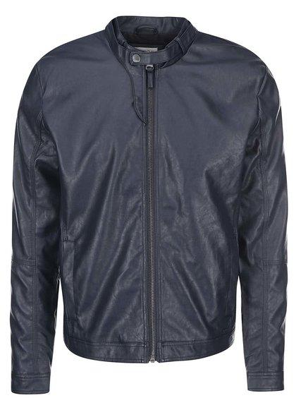 Jachetă bleumarin din imitație de piele Blend