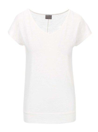 Krémové tričko Vero Moda Cailin