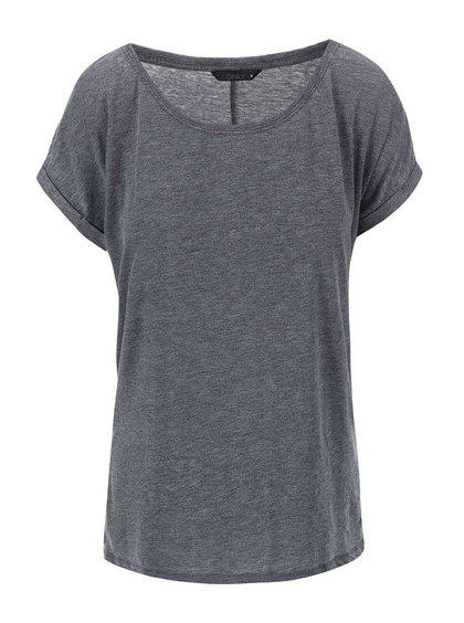 Sivé žíhané tričko ONLY Truly