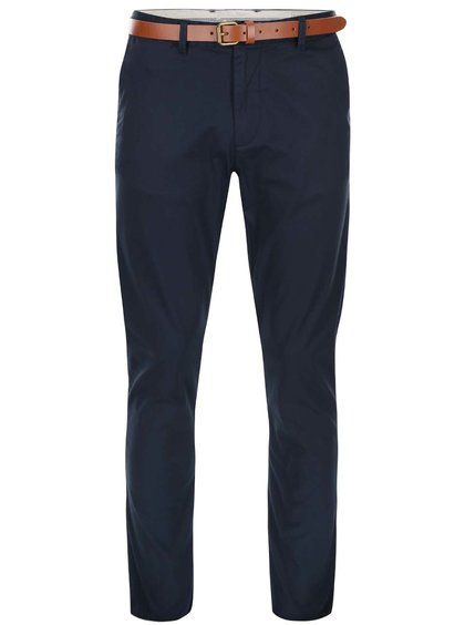 Pantaloni albaștri închis Selected Homme Yard slim fit