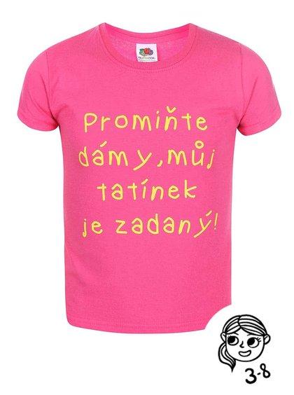 Růžové holčičí triko ZOOT Kids Promiňte