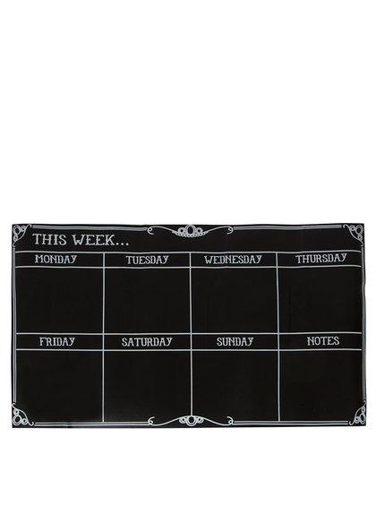 Čierna samolepiaca plánovacia tabuľa Sass & Belle Week Planner