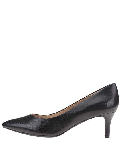 Pantofi cu toc din piele Geox Elina - negru