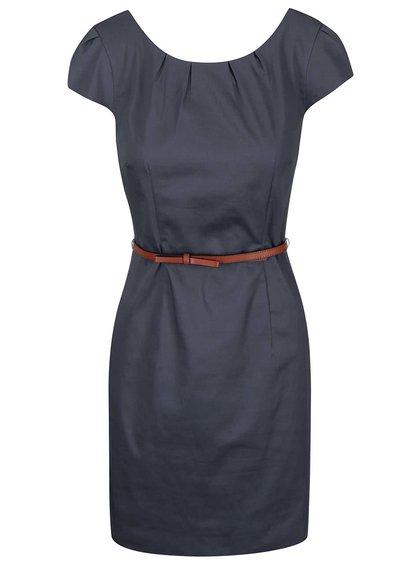 Šedomodré šaty s páskem VERO MODA Kaya