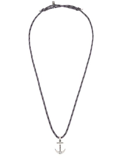 Šedý náhrdelník s kotvou Icon Brand Deadweight