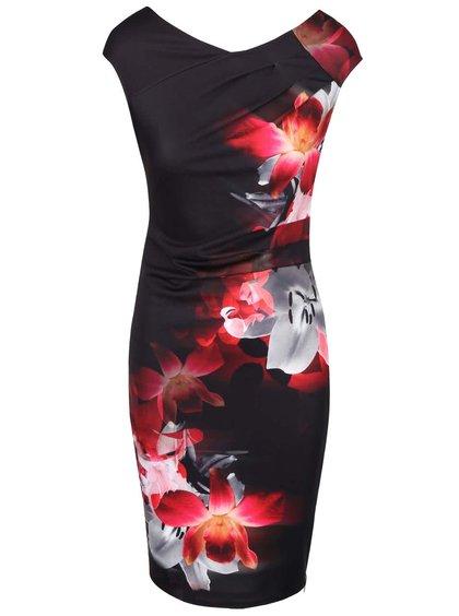 Rochie roșie cu negru florală Lipsy Red