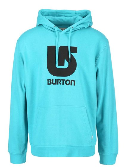 Hanorac bărbătesc turcoaz Burton Logo Vertical