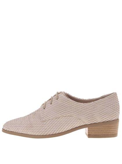Pantofi fin piele bej Dune London Loris