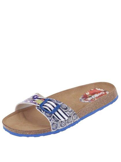 Modré vzorované pantofle Desigual Bio