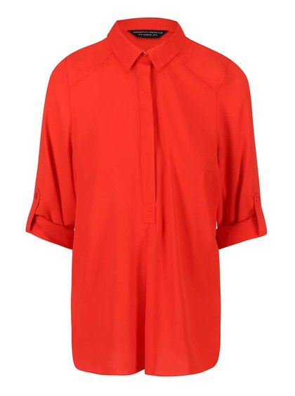 Bluză cu nasturi roșie Dorothy Perkins