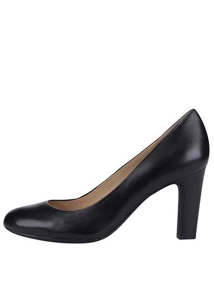 Pantofi cu toc negri din piele Geox New Mariele