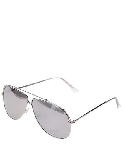 Ochelari de soare argintii cu lentile reflexive Pieces Tammy
