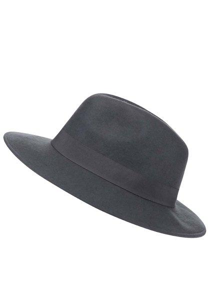 Šedý vlněný klobouk Pieces Tul
