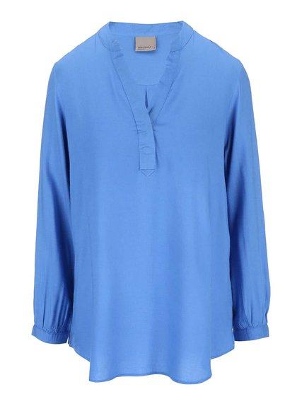 Modrá blúzka s dlhým rukávom Vero Moda Paja