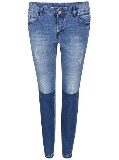 Modré dvoubarevné skinny džíny VILA Crush