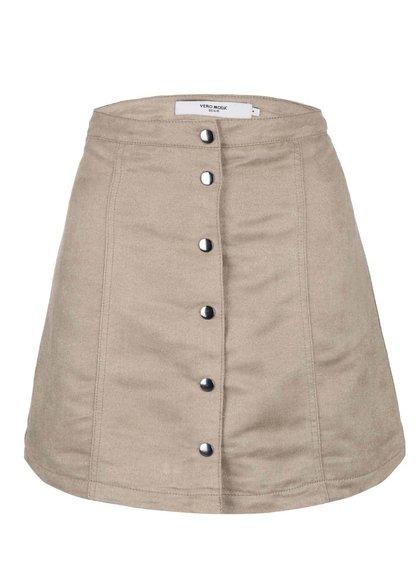 Béžová sukně v semišové úpravě Vero Moda Adina Donna