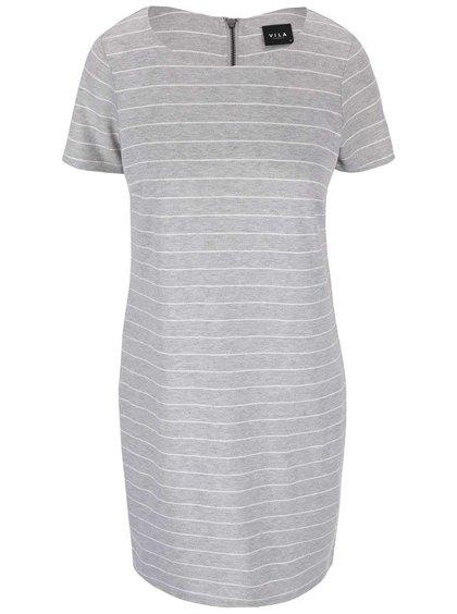 Šedé pruhované šaty VILA Tinny