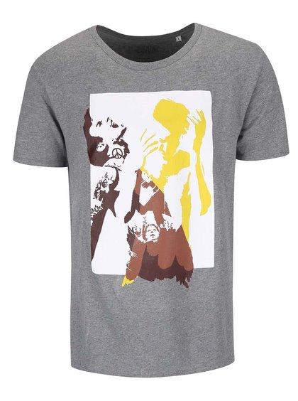 Sivé pánske tričko Bernstein