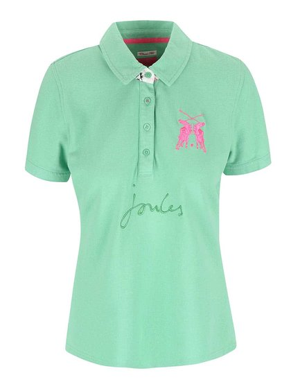 Tricou polo de damă verde deschis Tom Joule Beaufort