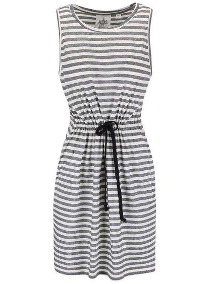 Čierno-biele pruhované šaty Cheap Monday Collapse