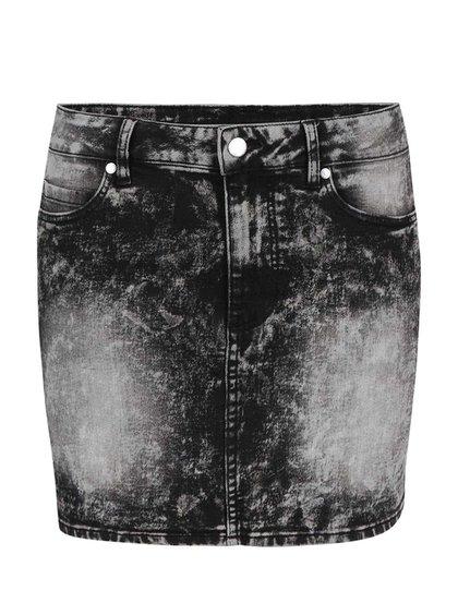Černo-šedá džínová sukně s opraným efektem Cheap Monday Spray