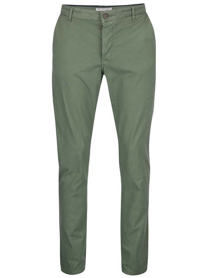 Pantaloni chino verzi ONLY & SONS Sharp