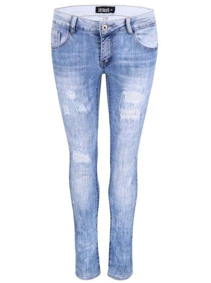 Světle modré džíny s potrhaným efektem Haily´s Rosalie