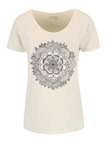 Tricou crem pentru femei ZOOT Original Mandala