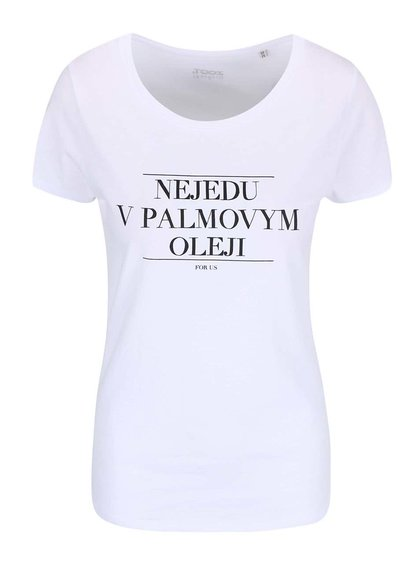Biele dámske tričko ZOOT Originál Nejedu v palmovym oleji