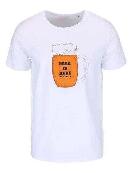 Tricou alb pentru bărbați ZOOT Original Beer