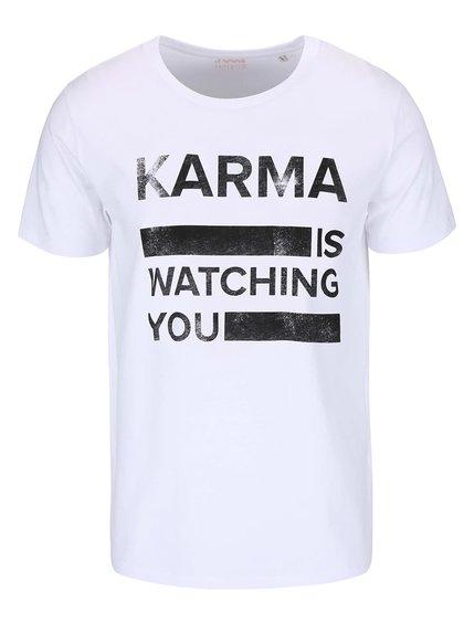 Bílé pánské triko ZOOT Originál Karma Is Watching You